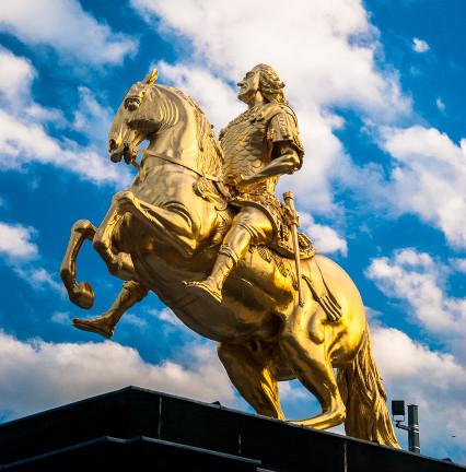 Der goldene Reiter - Feuervergoldet