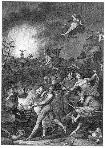 Kupferstich von W. Jury nach Johann Heinrich Ramberg (1829) zu Goethes Faust I (Gemeinfrei, https://commons.wikimedia.org/w/index.php?curid=893267)