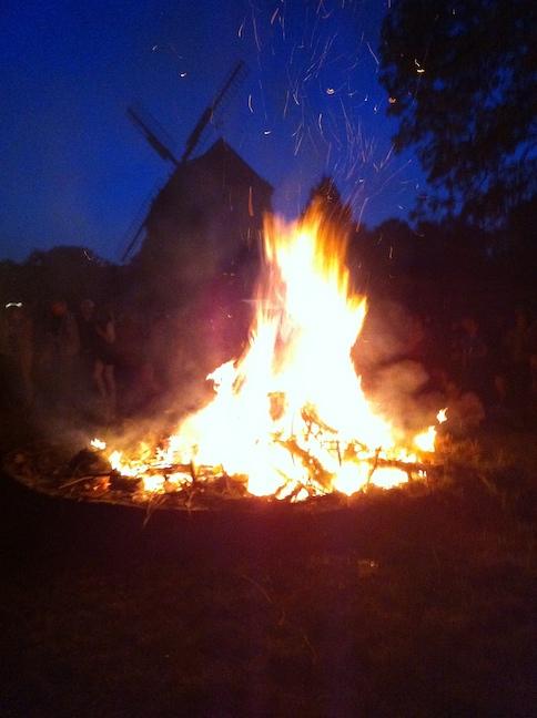 Hexenfeuer 2014 an der Leutewitzer Windmühle
