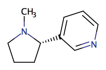 Nikotin, oder (S)-(–)-1-Methyl-2-(3-pyridyl)pyrrolidin