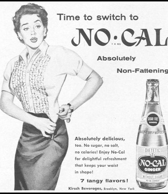 No-Cal Werbung (aus: Woman's Day 1954)