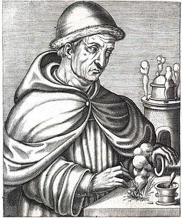 Berthold Schwartz, Inventeur de l'Artillerie (André Thevet, 1584)