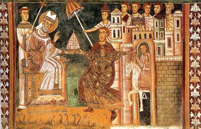 Papst Silvester I. und Kaiser Konstantin